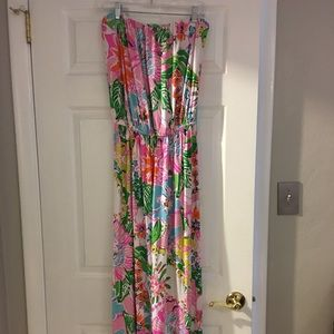 Lily Pulitzer strapless maxi dress XL